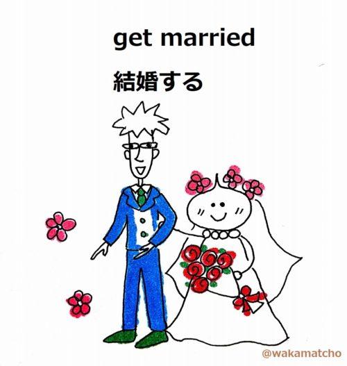 結婚式の画像。get married