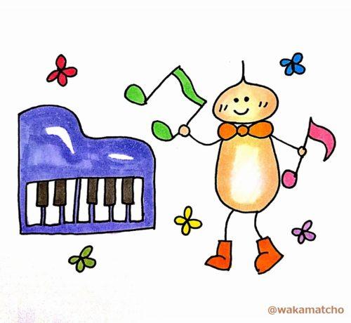 ピアノを習う画像。learn the piano