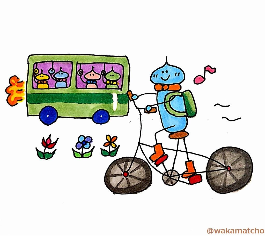 コロナウイルスで自転車通勤を始めた画像。started commuting by bicycle