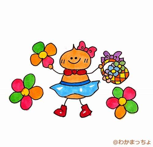 フラワーガール。a flower girl