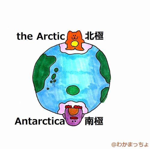 北極と南極。the Arctic and Antarctica