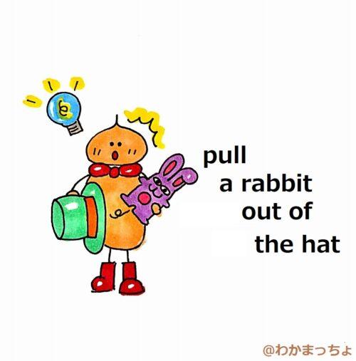 ひらめいた。a rabbit out of the hat