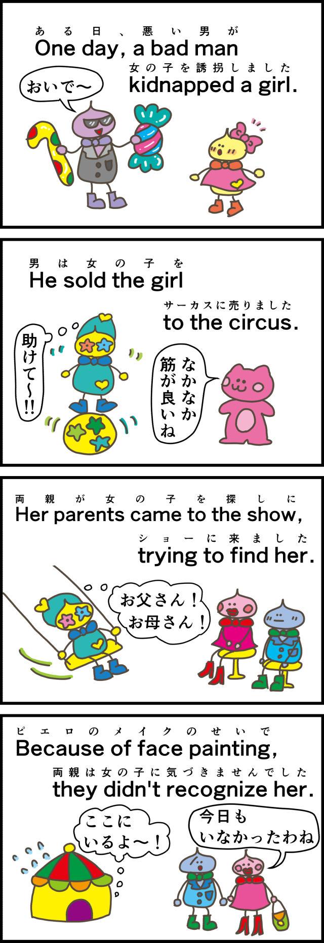サーカスに売られた女の子。a girl sold to the circus